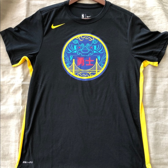 new arrival 1673f 5d05d Nike golden state warriors Chinese New Year shirt